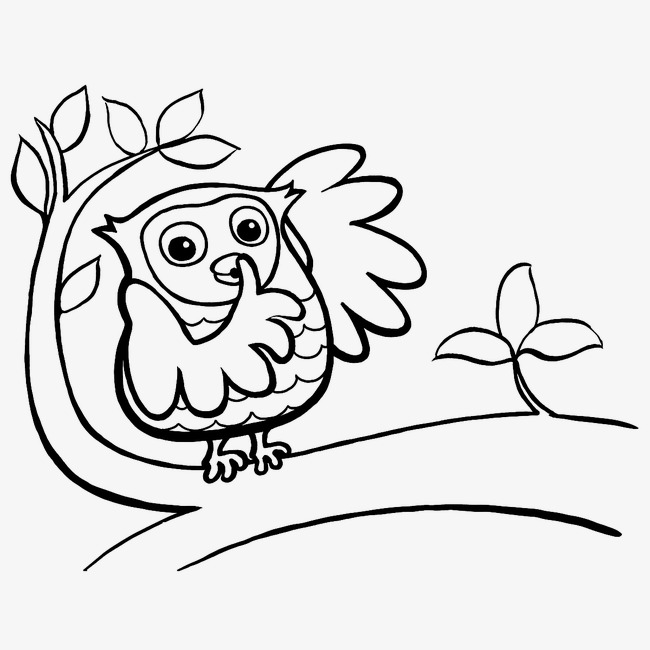 Quiet Owl Quiet Clipart Owl Clipart Branches Image And