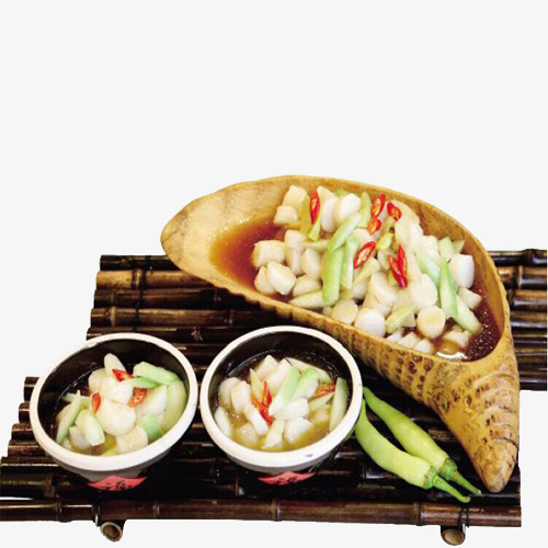 Quzhou Gourmet Wilde Bambussprossen Kochen Guo Chinesische Kuche