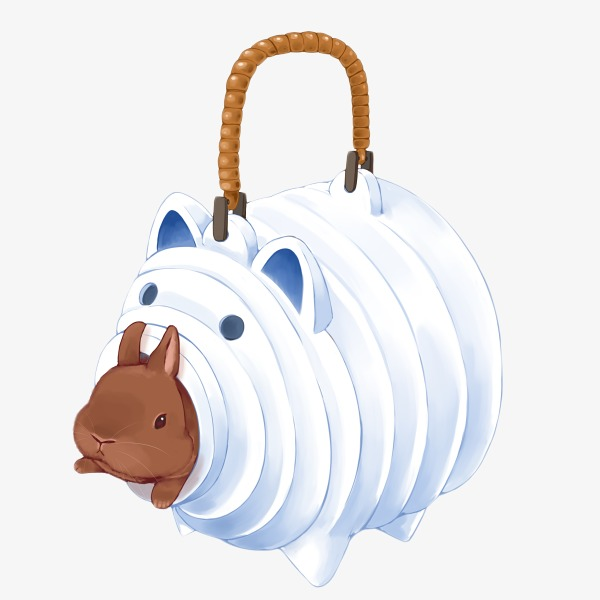 Rabbit Piggy Bag Clipart Png Image And