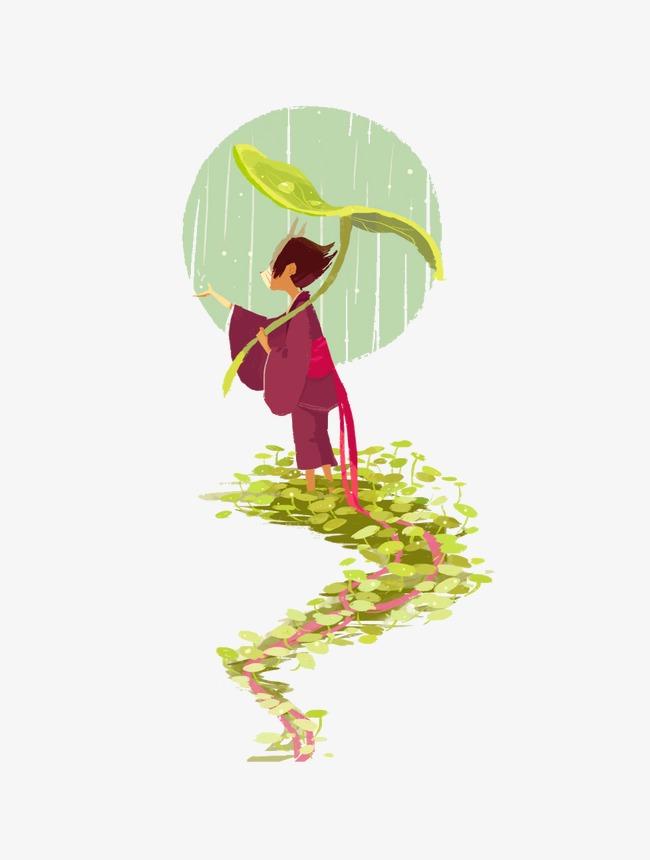 Hujan Melihat Hujan Hijau Kartun Imej Png Dan Clipart Untuk Muat