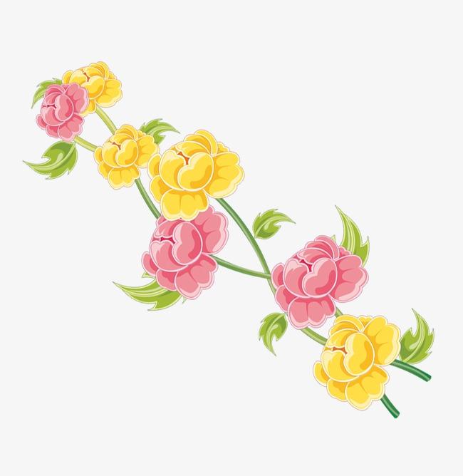 الأحمر أيضا الأصفر فلورز الزهور الحمراء ازهار صفراء زهور Png صورة