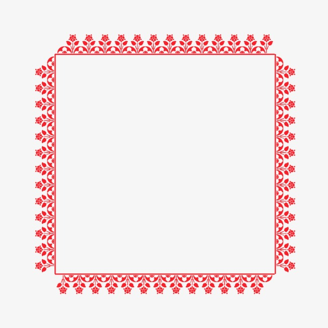 red border pattern red frame new year png and psd