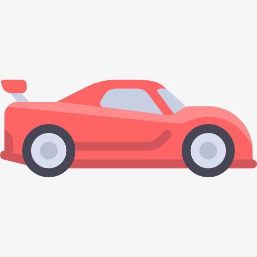 سيارة حمراء كرتون سيارة السيارة المدمجة Png صورة للتحميل مجانا