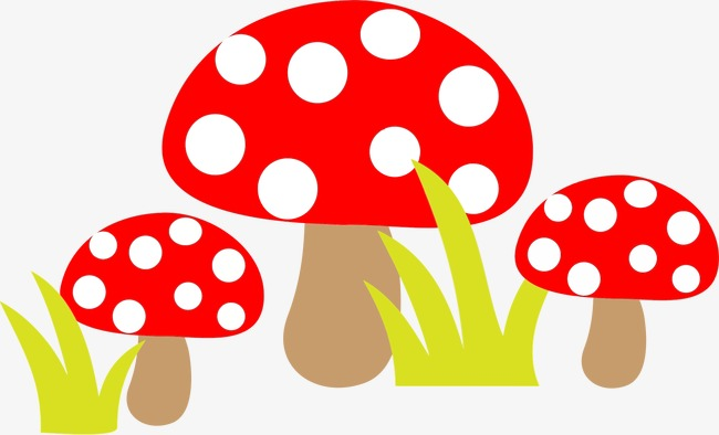 Red Dot Cute Mushrooms, Cute Clipart, Red, Dot PNG ...