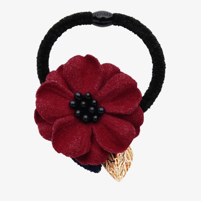 Des Fleurs Rouges De Cheveux De Bande De Caoutchouc Rouge Les Fleurs