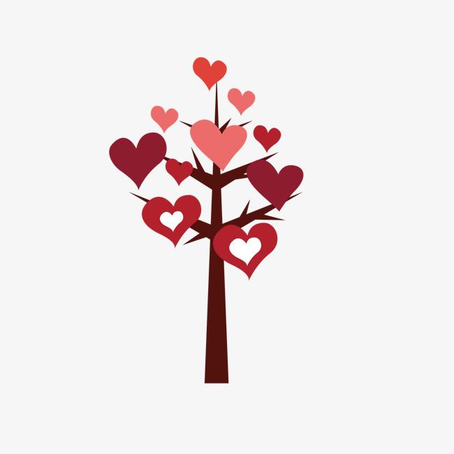 Red Love Decorado Arboles Amor Rojo Dibujos De Arboles Png Y Vector