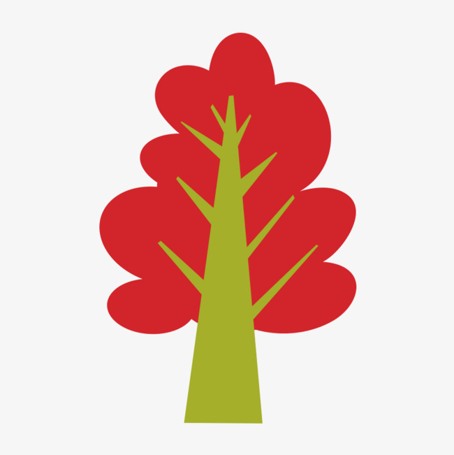 Red Stick Figure Tree Trees Red Plant Png And Psd File For Free