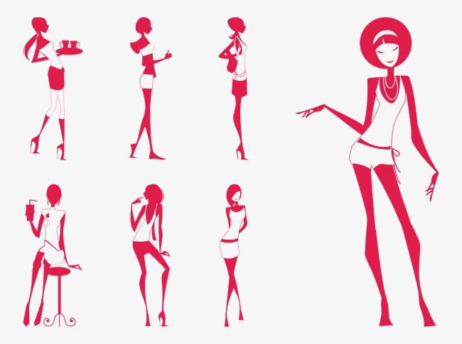 Red Stick Figure Women Model Red Stick Figure Women Png And