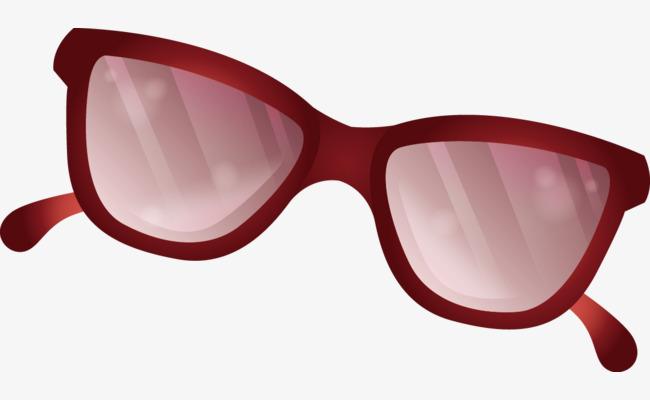 óculos De Sol De Vector Vermelho Desenhos Animados óculos De Sol ... 6c001ab53e