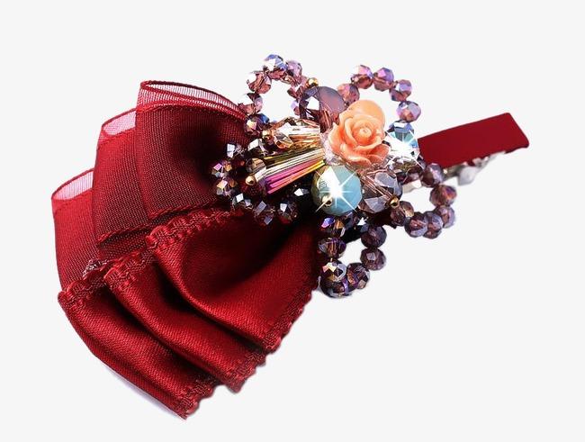Le Style Retro De Grandes Fleurs Rouges En Epingle De Cheveux
