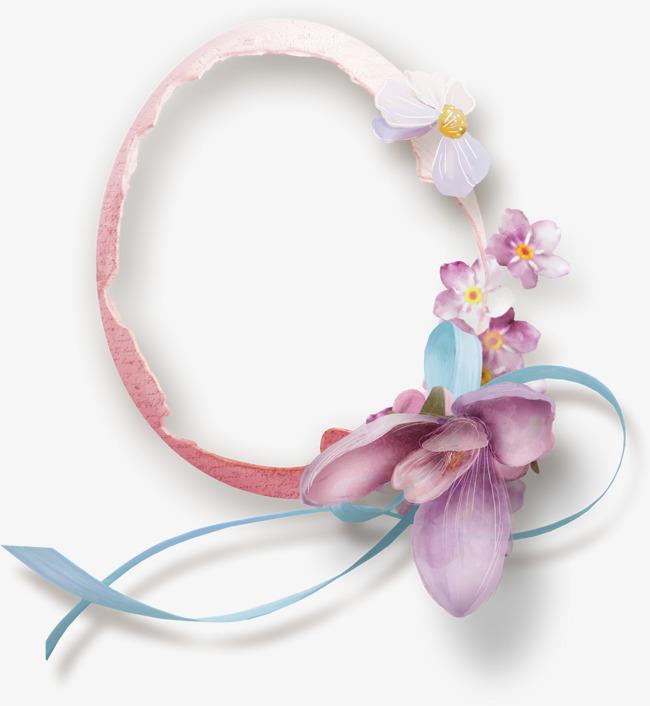 Ribbon Flower Decoration Frame Ribbon Clipart Flower Clipart