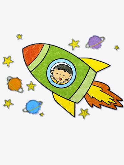 L Enfant Ouvre La Fusee Planete Dessin L Univers Image Png Pour Le