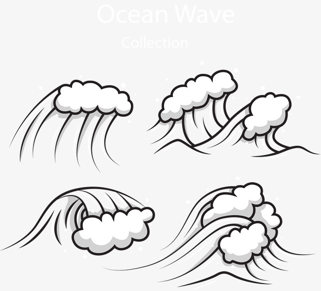 Rolling The Waves Waves Vector Vector Material Ocean And