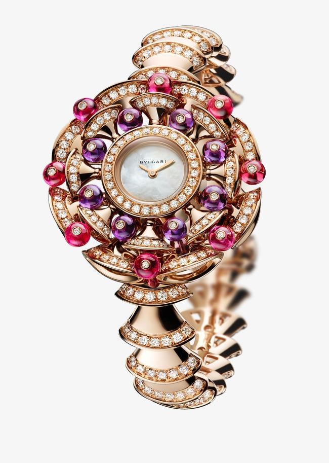 44beb85041c Relógio de Pulso feminino jóias relógios Bulgari rose Campbell Grátis PNG e  Clipart