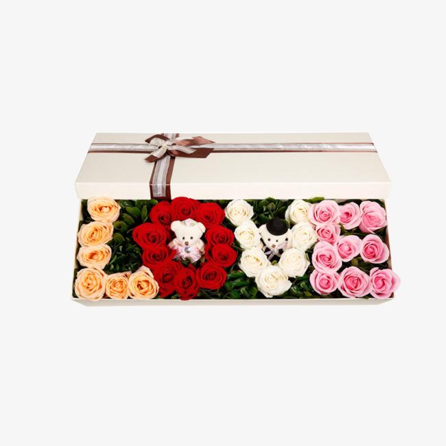 La Rose De Boite Cadeau Produit L Amour Est Toujours 33 Fleur La