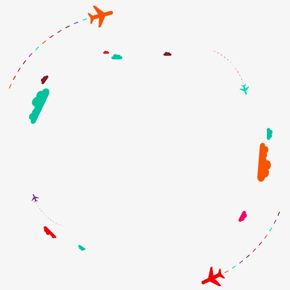 dessin plan circulaire de nuages de motifs d u00e9coratifs