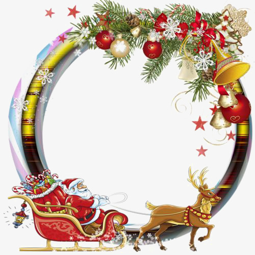 round christmas border