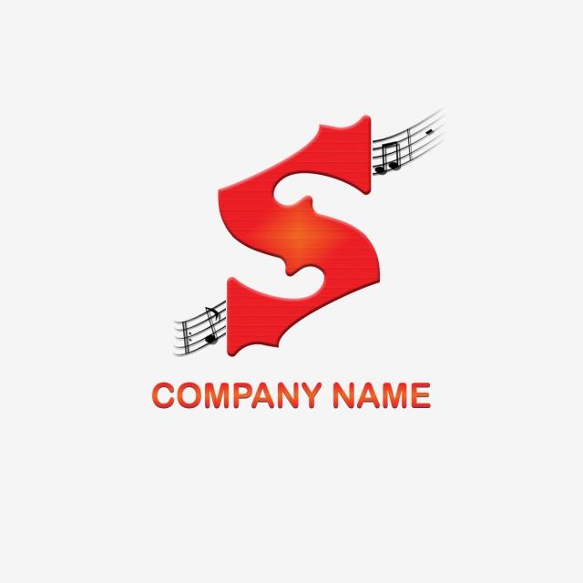 S Letter Logo Music Horn Template
