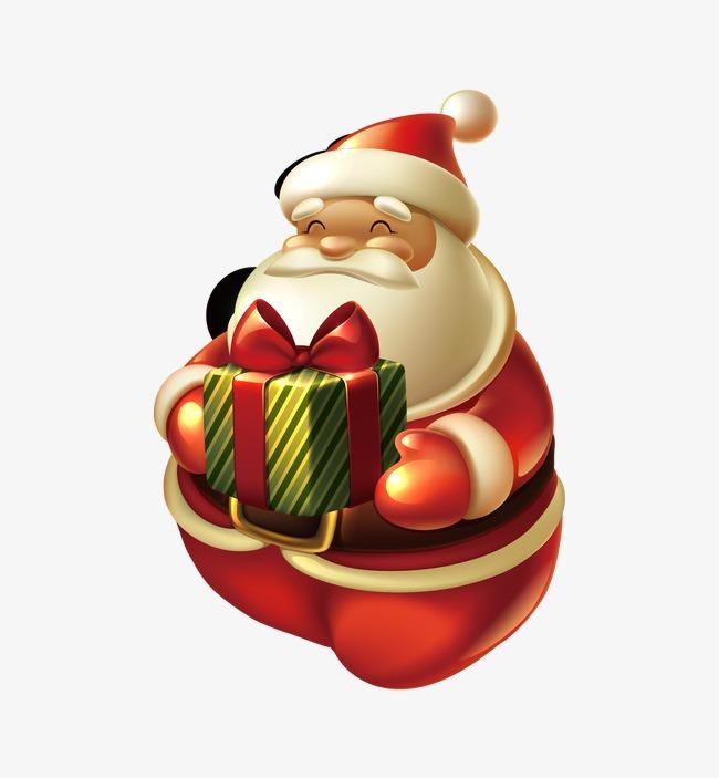 Le Père Noël Avec Le Père Noël Cadeau Le Père Noël De Dessins Animés