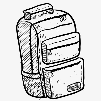 School Bag School Clipart Bag Clipart Hand Painted Image And