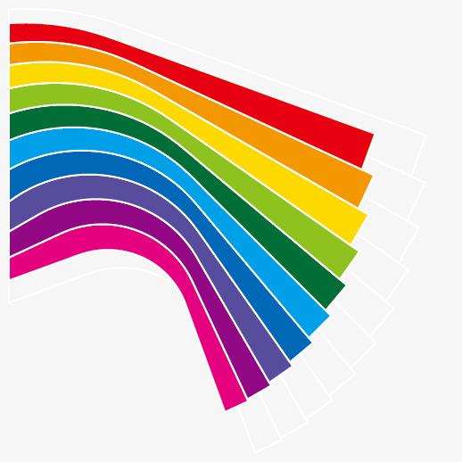 Yếu tố đẹp bảy màu cầu vồng vector. Miễn phí PNG và Vector