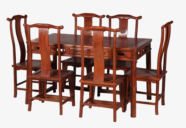 Seven Sets Of Traditional Tables Mahogany Desks And Chairs Printing Hand Carved Flower