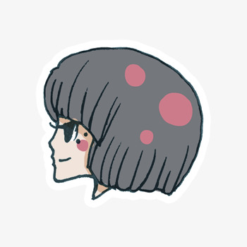 Une Fille Aux Cheveux Courts Couleur Fille Créatif Image Png Pour Le