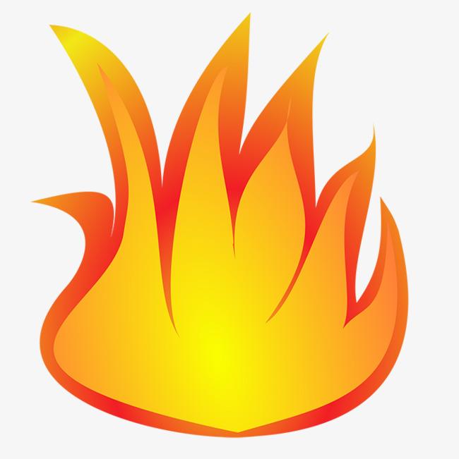 La Flamme De Dessin Simple Simple Jaune Hd Image Png Pour Le