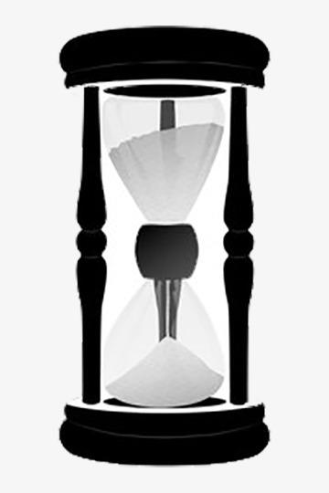 Sencillo Reloj De Arena Blanco Y Negro Reloj De Arena Calendario