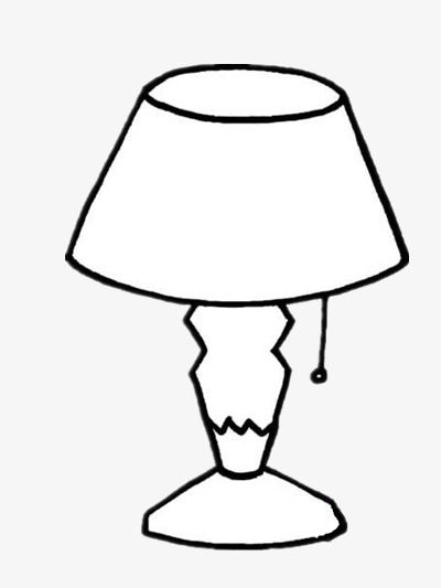 Simple Table Lamp Lamp Clipart Stick Figure Black And White Png