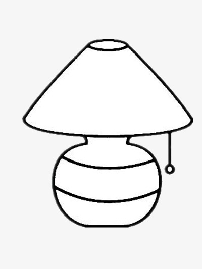 Simple Table Lamp Lamp Clipart Black And White Stick Figure Png