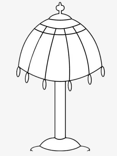 Simple Table Lamp Lamp Clipart Black And White Cartoon Png Image