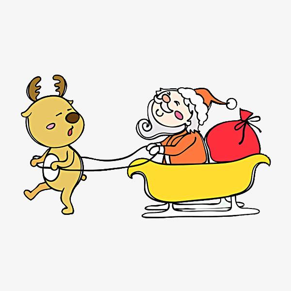 Schlitten Fahren Tier Schlitten Weihnachten Der Weihnachtsmann Png
