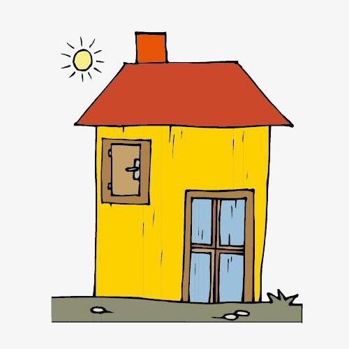 La Petite Maison Dans La Journée Dessin Réaliste Illustration Image ...