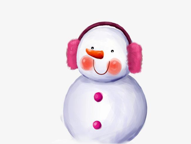 Schnee Szene Schneemann Kopfhörer Schnee Szene Der Schneemann Der