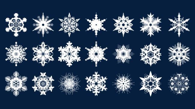 Copo De Nieve Patron Decorativo Blanco Copo De Nieve