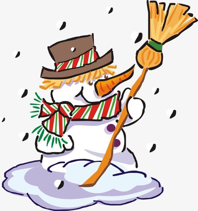 Der Schneemann Der Schneemann Im Winter Handbemalte Png Bild Und