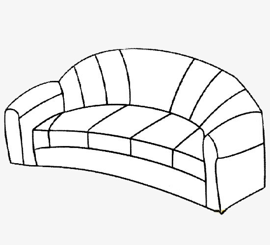 Sofa White Black Furniture Png Image And Clipart For Free Download