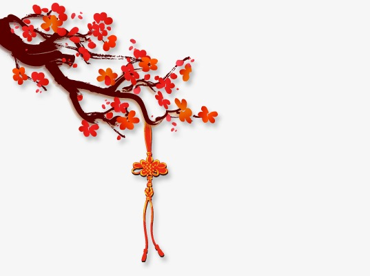 Spring Plum Decoration, Spring Clipart, Chinese New Year ...
