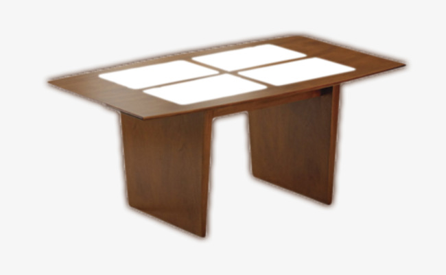 Carré de bureau en bois simple le bureau en nature image png pour le