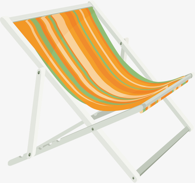 Striped Beach Chair Vector Stripe Orange Png And