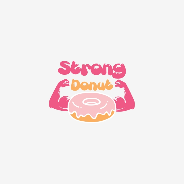 strong donut template for free download on pngtree
