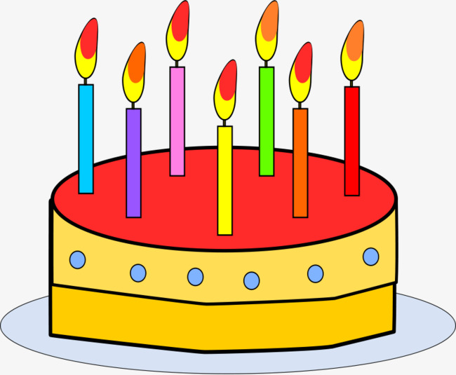 Studded Birthday Cake Candles Cartoon Clipart PNG Image And For Free Download