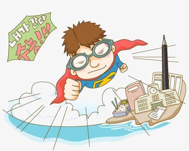 Elementi di cartone animato superman i cartoni animati immagine