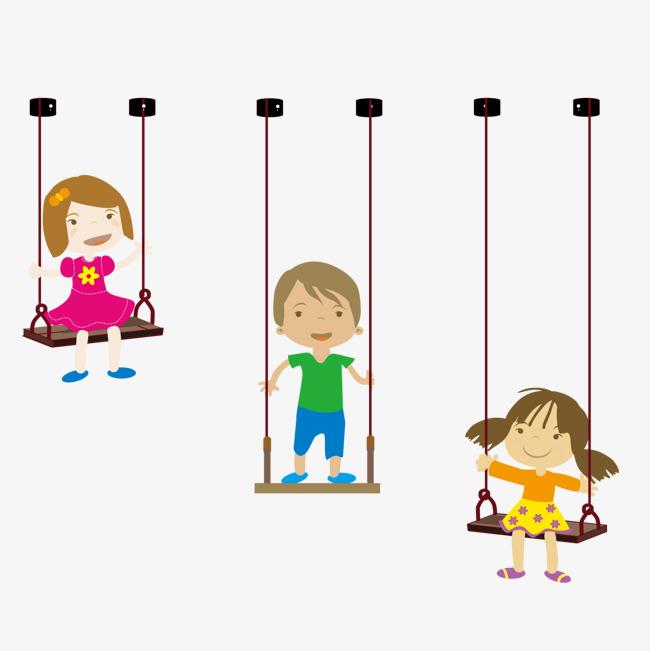 Kinder Schaukeln Auf Der Schaukel Kinder Glücklich Png Und Vektor