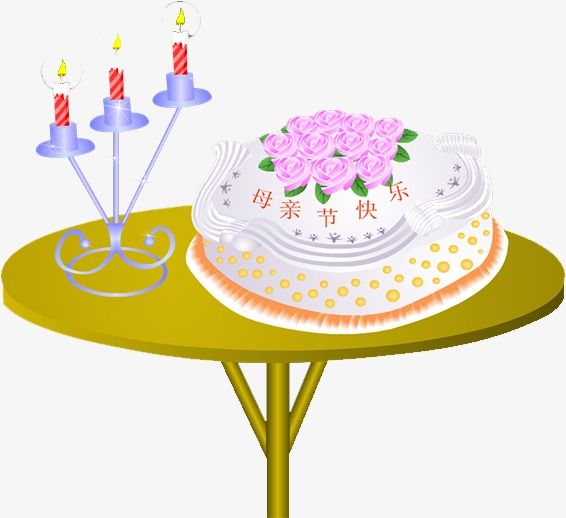 Table Cake Candle Png Image And Clipart For Free Download