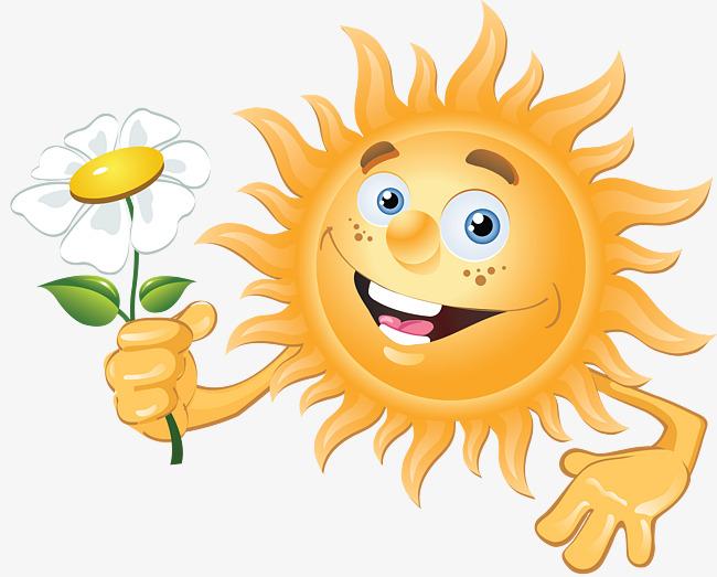 Картинка с прикольным солнышком