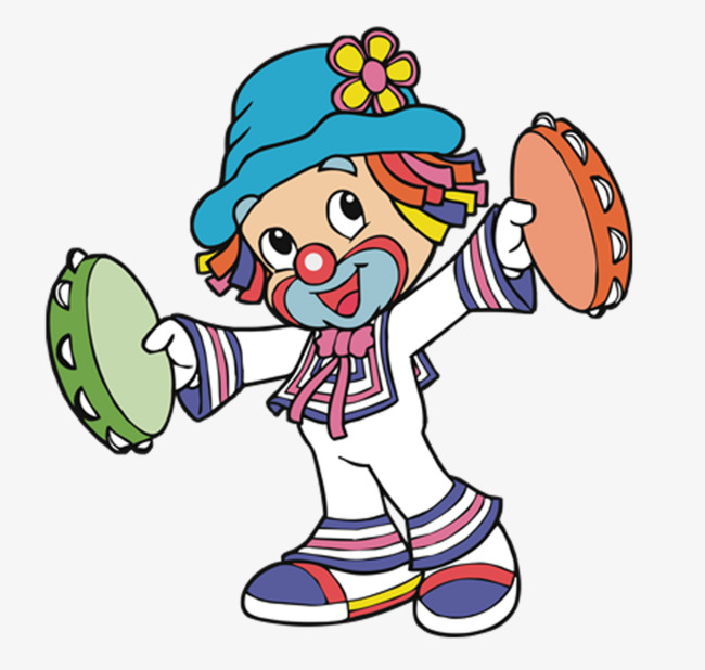 Take The Clown Of The Drum Clown Clipart Round Drum Image And