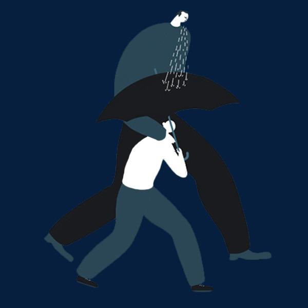 Kartun Air Liur Hujan Drool Payung Giants Imej Png Dan Clipart Untuk