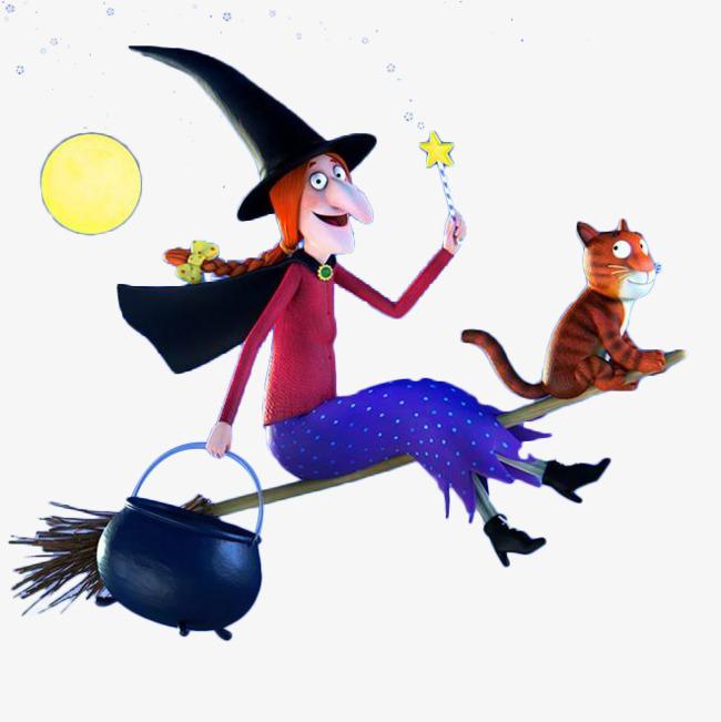 dessin de sorci u00e8re assis sur la magie de balai magic broom